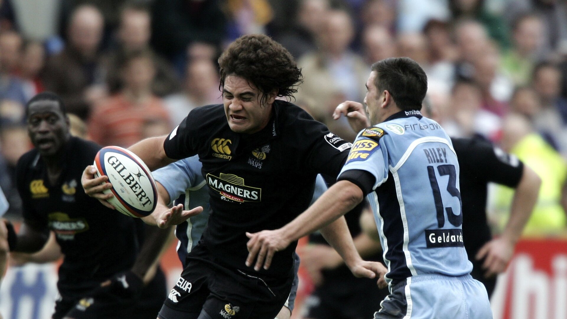 Leo playing for Wasps