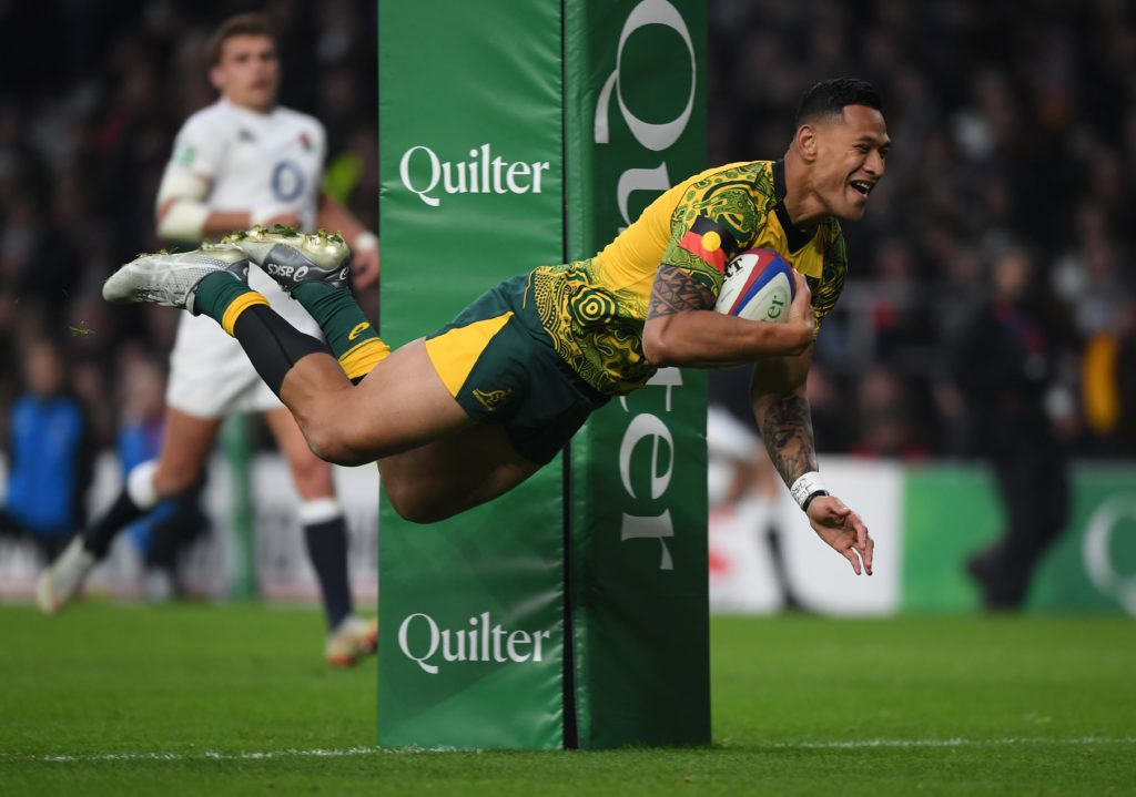 Israel Folau scores a try for <a href=