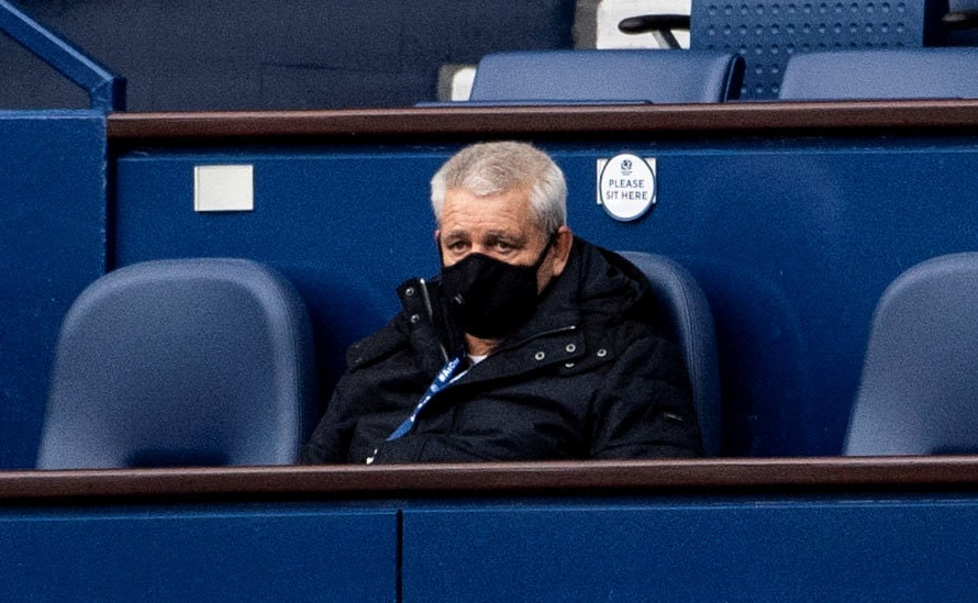 Warren Gatland watches Scotland play Ireland.