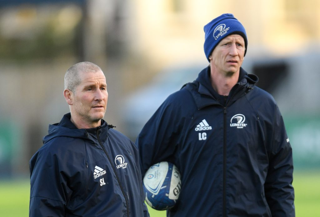 Stuart Lancaster and Leo Cullen
