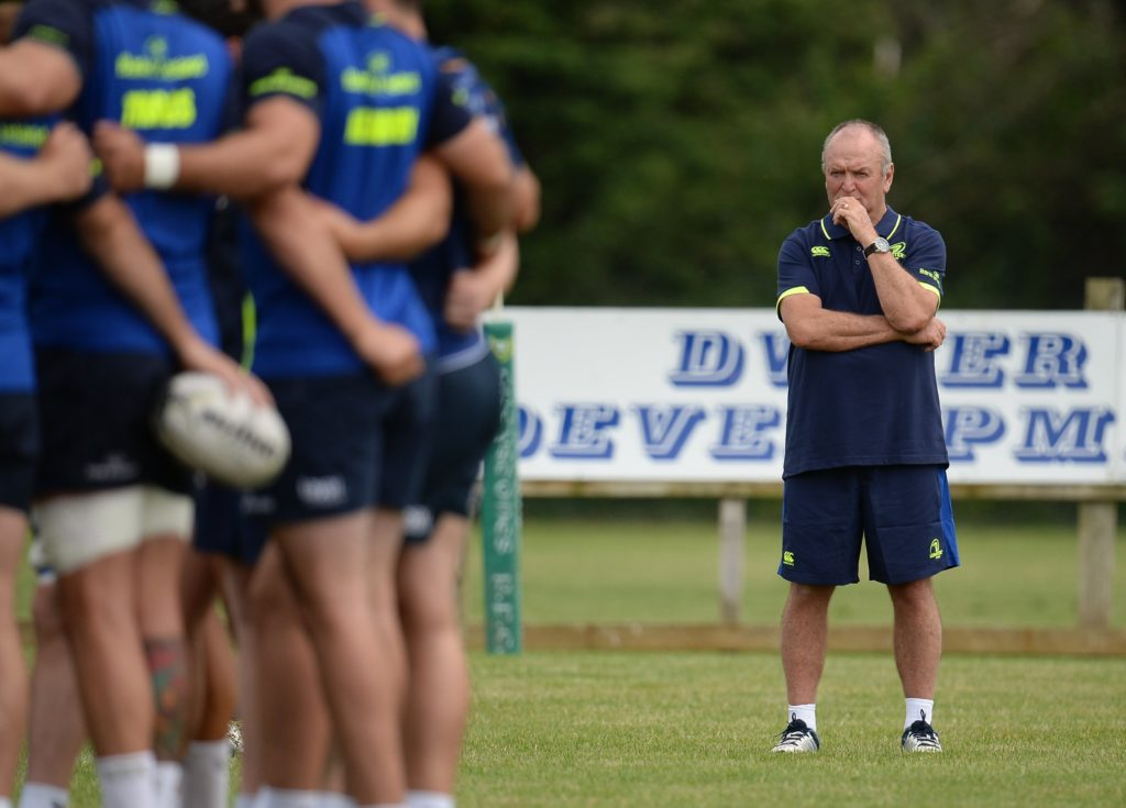 Sir Graham Henry watches Leinster train