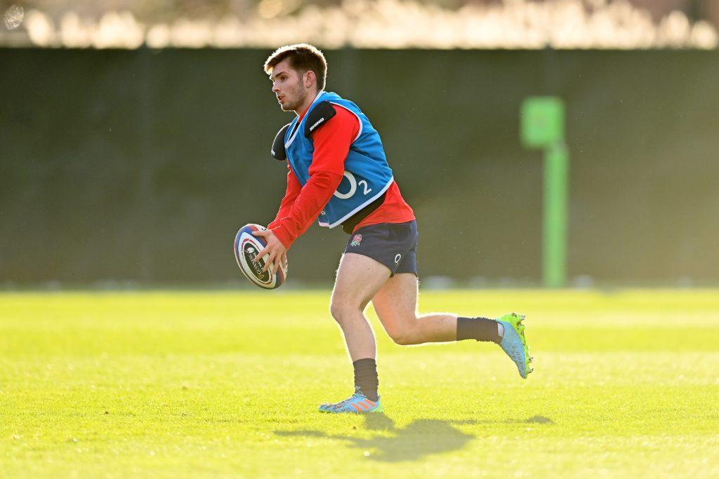 Harry Randall during England training