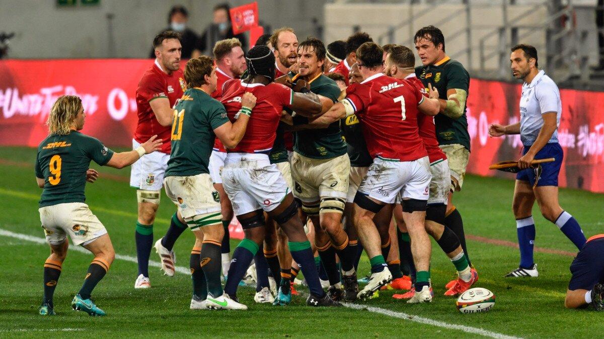 Lions Springboks yellow cards