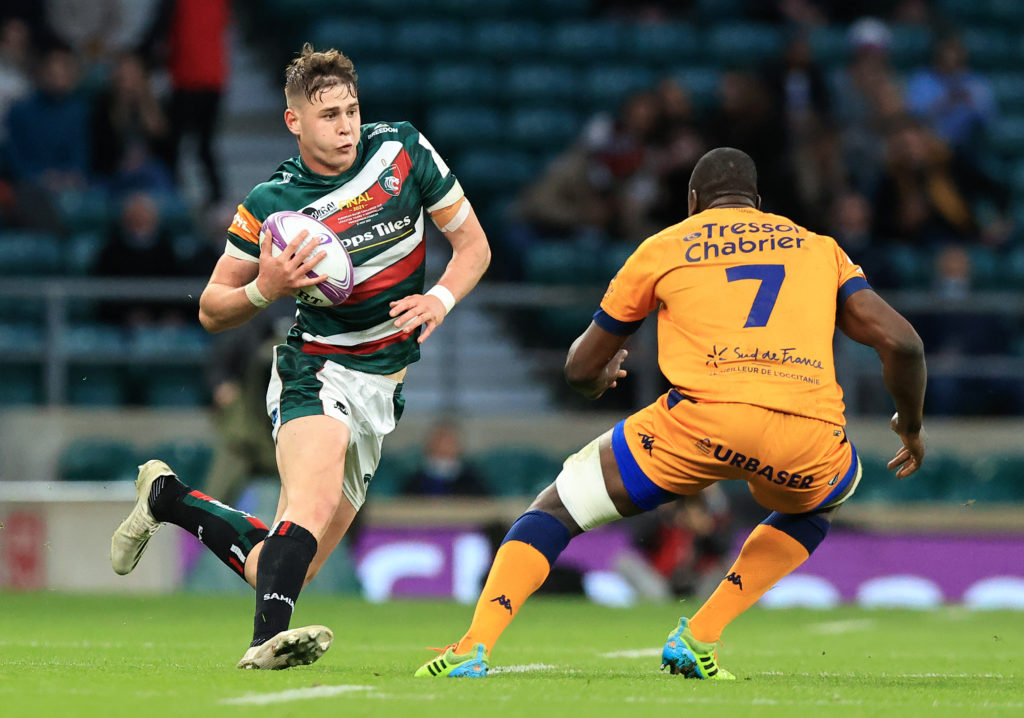 Freddie Steward in action for Leicester Tigers