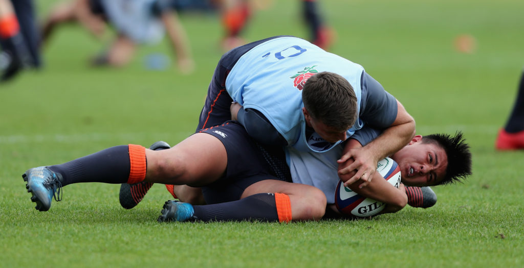 George Ford tackles <a href=
