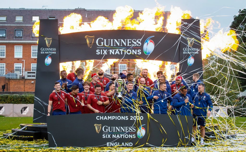 England Guinness Six Nations Trophy Presentation - Lensbury Club